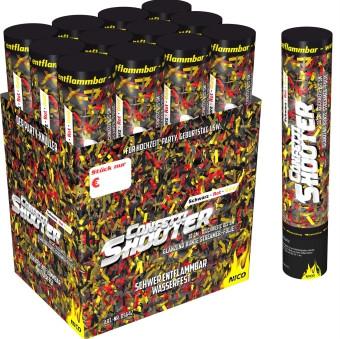 Feuerwerk Deutschland-Shooter Schwarz/Rot/Gold 30 cm von NICO online kaufen im Feuerwerkshop Funkelfun