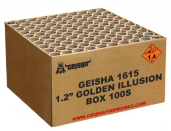 """Feuerwerk 1.2"""" GOLDEN ILLUSION von Gaisha online kaufen im Feuerwerkshop Funkelfun"""