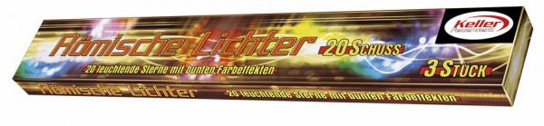 Feuerwerk Roem. Lichter 20 Schuss 3er von Keller online kaufen im Feuerwerkshop Funkelfun