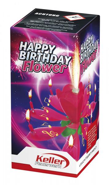 Feuerwerk Happy Birthday Flower von Keller online kaufen im Feuerwerkshop Funkelfun