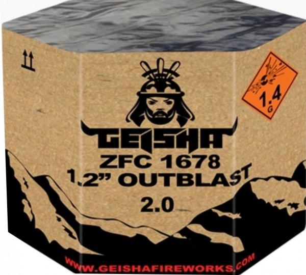 Feuerwerk OUTBLAST 2.0 von Gaisha online kaufen im Feuerwerkshop Funkelfun