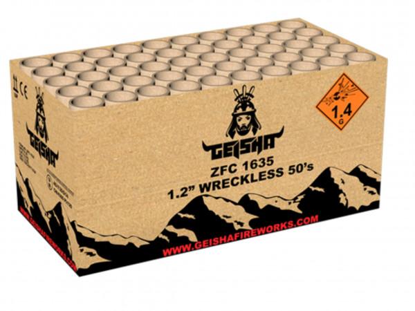 Feuerwerk WRECKLESS 50's    3/2 ohne Käfig von Gaisha online kaufen im Feuerwerkshop Funkelfun