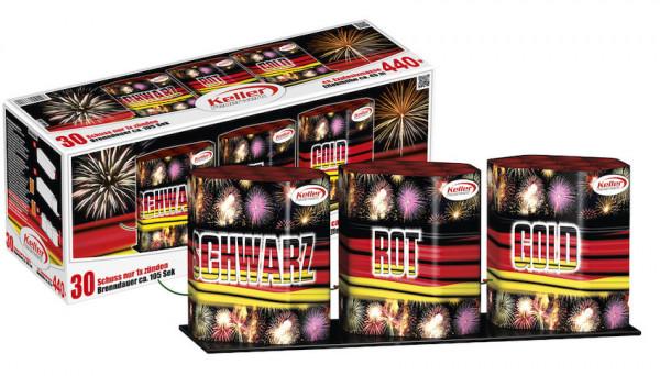 Feuerwerk Schwarz Rot Gold von Keller online kaufen im Feuerwerkshop Funkelfun