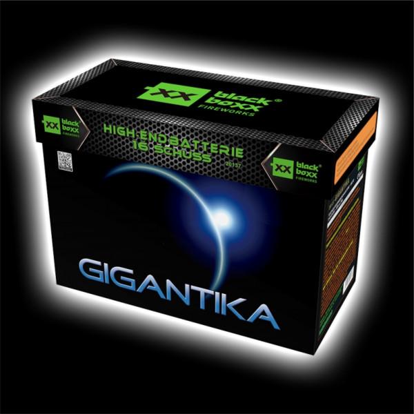 Feuerwerk Gigantika, 16 Schuss Fächer Batterie  von Blackboxx online kaufen im Feuerwerkshop Funkelfun