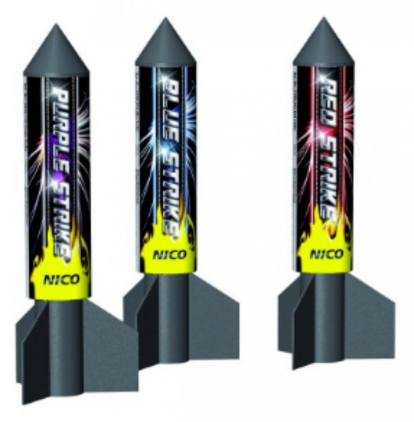 Feuerwerk Rocket Strike von NICO online kaufen im Feuerwerkshop Funkelfun