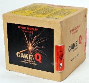 Feuerwerk CakeQ von Pyrotrade online kaufen im Feuerwerkshop Funkelfun