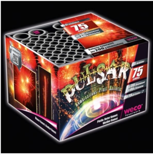 Feuerwerk Pulsar 75-Schuss-Batterie von Weco online kaufen im Feuerwerkshop Funkelfun