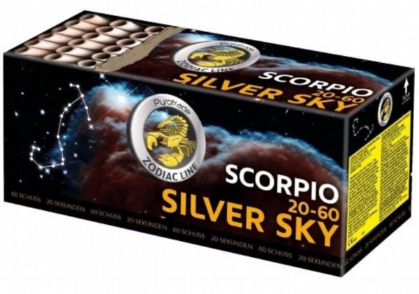 Feuerwerk Silver Sky - Scorpio 20-60 von Pyrotrade online kaufen im Feuerwerkshop Funkelfun