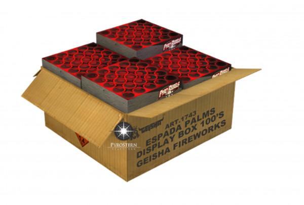 Feuerwerk ESPADA PALMS DISPLAY BOX 100'S von Gaisha online kaufen im Feuerwerkshop Funkelfun
