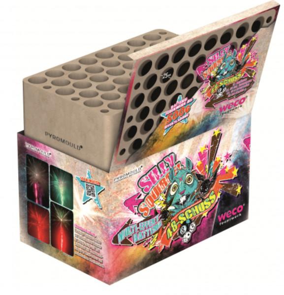 Feuerwerk Silly Squirrel 48 Schuss-Batterie  von Weco online kaufen im Feuerwerkshop Funkelfun