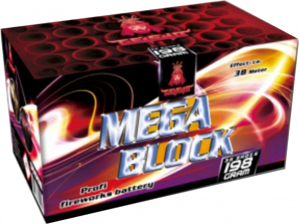 Feuerwerk Mega Block Pinke Sterne und goldene Blinker mit Knall, von Gaisha online kaufen im Feuerwerkshop Funkelfun