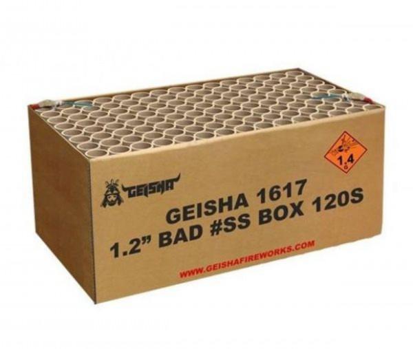 """Feuerwerk 1.2"""" BAD #SS BOX von Gaisha online kaufen im Feuerwerkshop Funkelfun"""