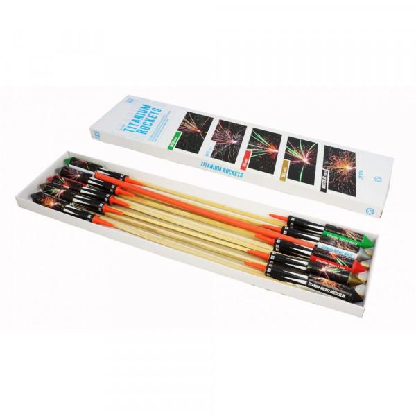 Feuerwerk Titanium Rockets 10 Stück   von Funke online kaufen im Feuerwerkshop Funkelfun