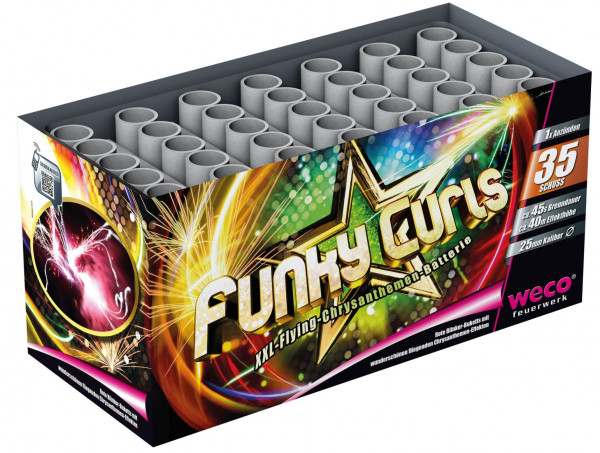 Feuerwerk Funky Curls 35-Schuss-Batterie von Weco online kaufen im Feuerwerkshop Funkelfun