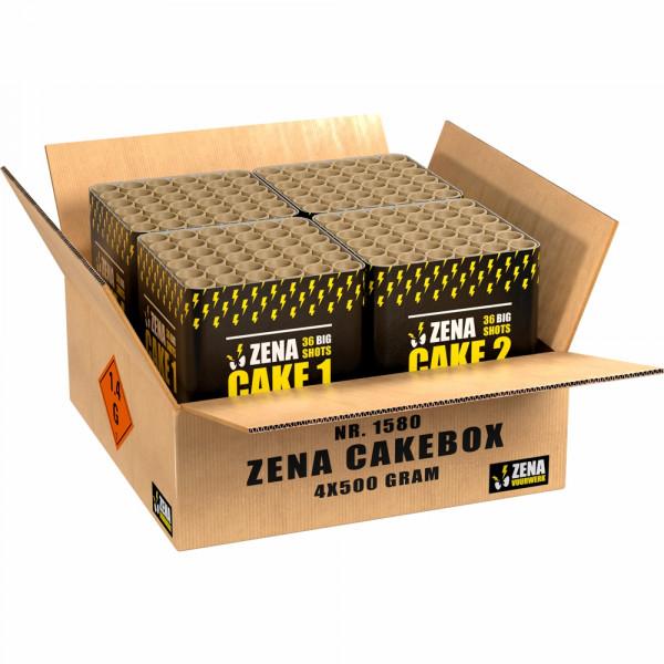 Feuerwerk Zena Cakebox von Lesli online kaufen im Feuerwerkshop Funkelfun