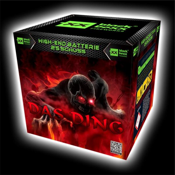 Feuerwerk Das Ding, 25 Schuss Batterie  von Blackboxx online kaufen im Feuerwerkshop Funkelfun