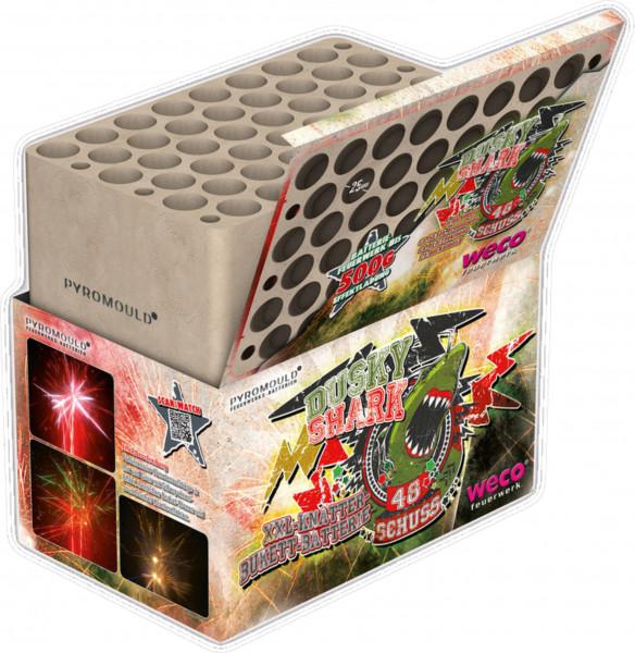 Feuerwerk Dusky Shark 48 Schuss-Batterie  von Weco online kaufen im Feuerwerkshop Funkelfun