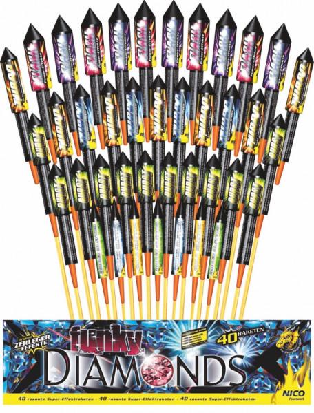 Feuerwerk Funky Diamonds von NICO online kaufen im Feuerwerkshop Funkelfun