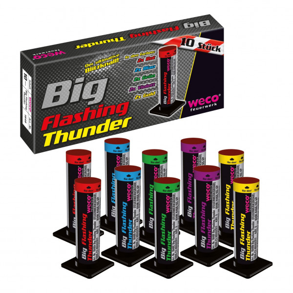 Feuerwerk Big Flashing Thunder 2 - 1.3G von Weco online kaufen im Feuerwerkshop Funkelfun