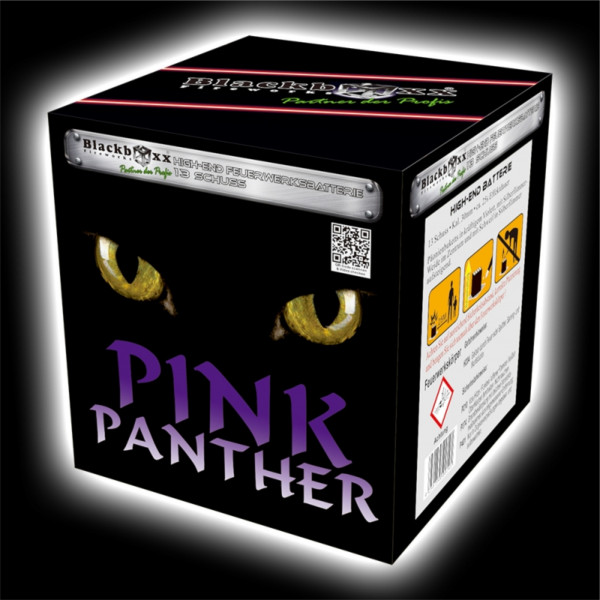 Feuerwerk Pink Panther, 13 Schuss Batterie von Blackboxx online kaufen im Feuerwerkshop Funkelfun