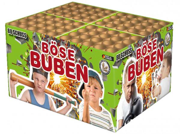 Feuerwerk Böse Buben 80-Schuss von Lesli online kaufen im Feuerwerkshop Funkelfun