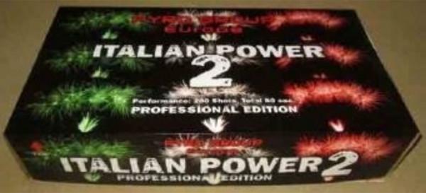 Feuerwerk ltalian Power 2 von Pyrotrade online kaufen im Feuerwerkshop Funkelfun