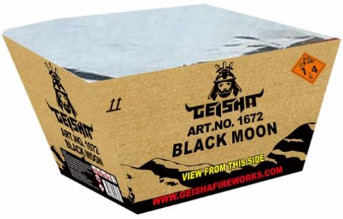 Feuerwerk BLACK MOON fächer gold blau von Gaisha online kaufen im Feuerwerkshop Funkelfun