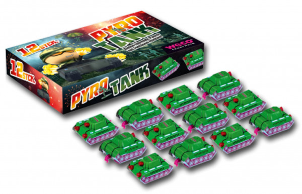 Feuerwerk Pyro Tank, 12er SET von Weco online kaufen im Feuerwerkshop Funkelfun