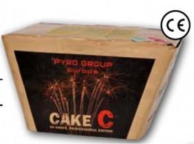 Feuerwerk Cake C von Pyrotrade online kaufen im Feuerwerkshop Funkelfun