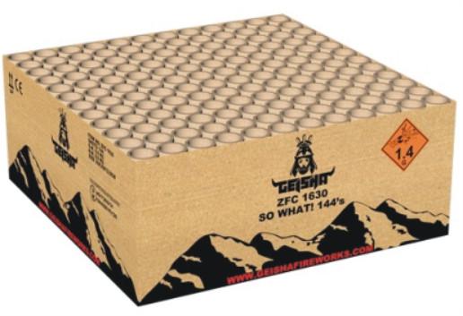 Feuerwerk SO WHAT! 144s von Gaisha online kaufen im Feuerwerkshop Funkelfun