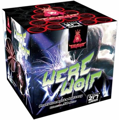 Feuerwerk Werewolf  Pinkaufstig mit Crackling Spinnen von Gaisha online kaufen im Feuerwerkshop Funkelfun