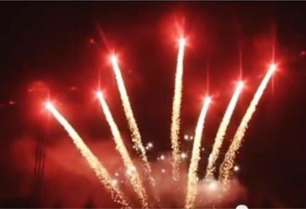 Feuerwerk Redtiger tail w/ white strobe mine von Pyrotrade online kaufen im Feuerwerkshop Funkelfun