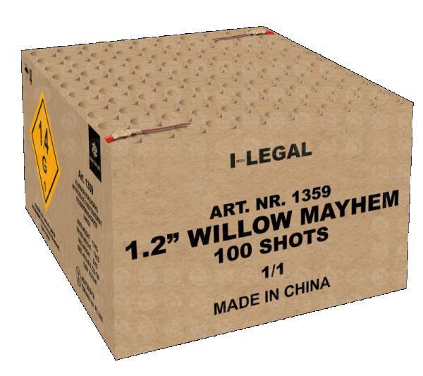 """Feuerwerk 1.2"""" Willow Mayhem von Broekhoff online kaufen im Feuerwerkshop Funkelfun"""