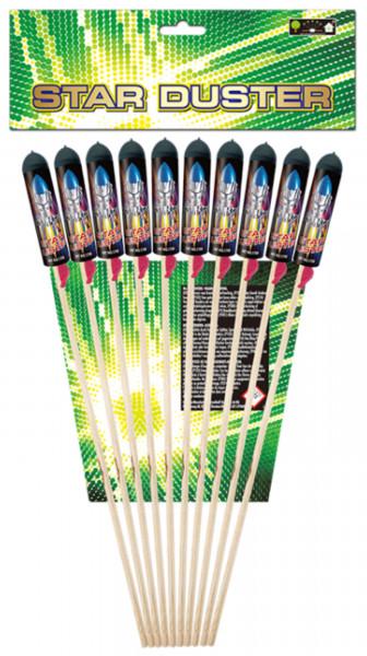 Feuerwerk Star Duster (10 Raketen) von Broekhoff online kaufen im Feuerwerkshop Funkelfun