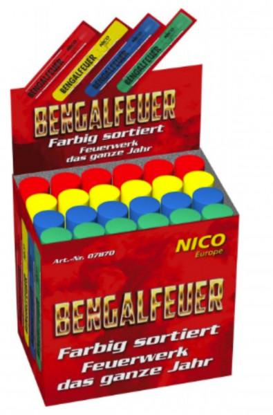 Feuerwerk Bengalfeuer im Verkaufsdisplay von NICO online kaufen im Feuerwerkshop Funkelfun
