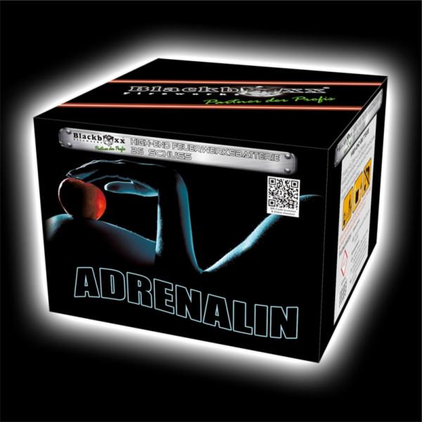 Feuerwerk Adrenalin, 25 Schuss Batterie  von Blackboxx online kaufen im Feuerwerkshop Funkelfun