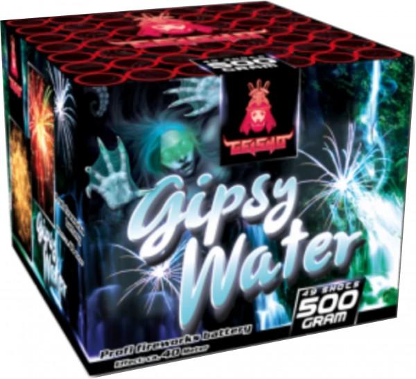 Feuerwerk Gipsy Water goldene Feuertöpfe mit Cracklingflowers zu roten, grünen und blauen Falling Leaves. von Gaisha online kaufen im Feuerwerkshop Funkelfun