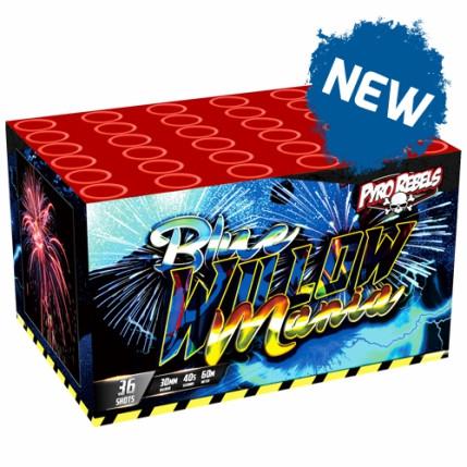 """Feuerwerk 1.2"""" BLUE WILLOW MANIA von Gaisha online kaufen im Feuerwerkshop Funkelfun"""