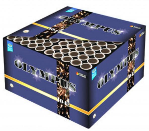 Feuerwerk Olympus mit 104 Rohren Drahtkäfig von Lesli online kaufen im Feuerwerkshop Funkelfun