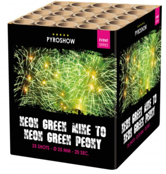 Feuerwerk Neon Green Peony w Green Tail and Mine von Broekhoff online kaufen im Feuerwerkshop Funkelfun