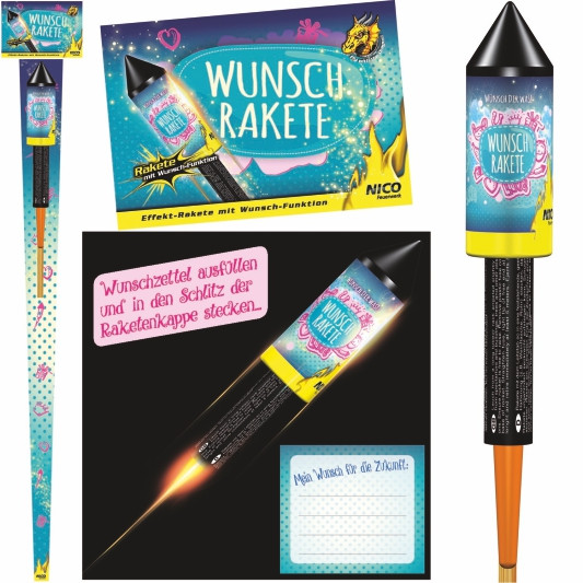 Feuerwerk Wunschrakete von NICO online kaufen im Feuerwerkshop Funkelfun