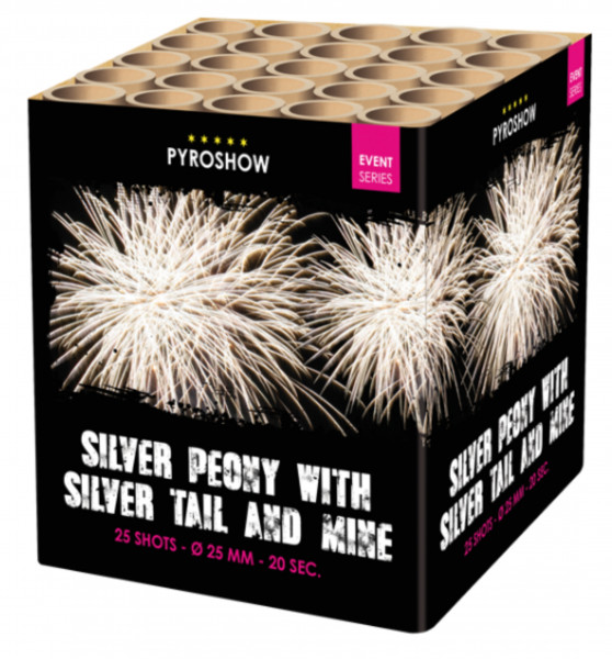 Feuerwerk Silver Peony w Silver Tail and Mine von Broekhoff online kaufen im Feuerwerkshop Funkelfun