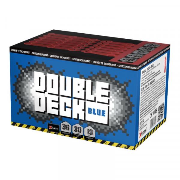 Feuerwerk Double Deck Blau, 36-Schuss XXL Fächer-Batterie von Xplode online kaufen im Feuerwerkshop Funkelfun