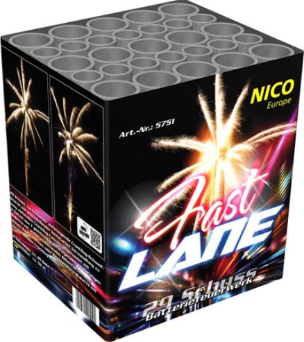 Feuerwerk Fast Lane von NICO online kaufen im Feuerwerkshop Funkelfun