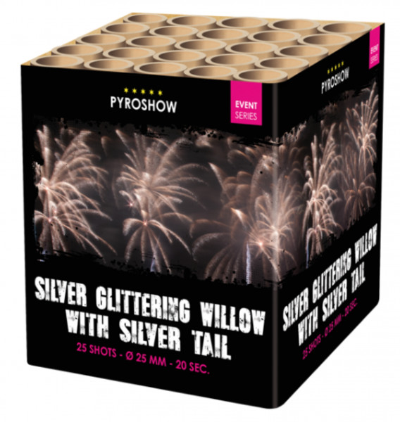 Feuerwerk Silver Glttering Willlow w Silver Blinking Tail von Broekhoff online kaufen im Feuerwerkshop Funkelfun